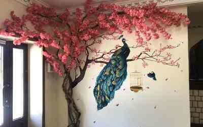 Роспись стен, меловые стенды, картины оказываем услуги